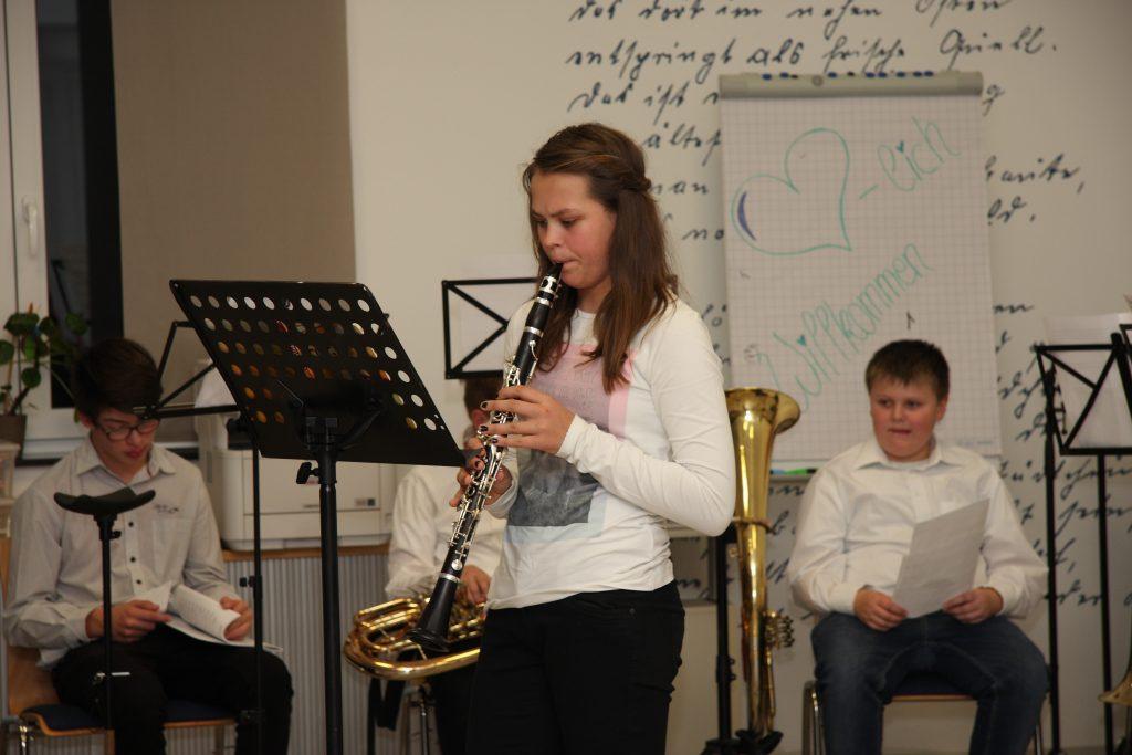 Juliane Schmitt mit der Klarinette