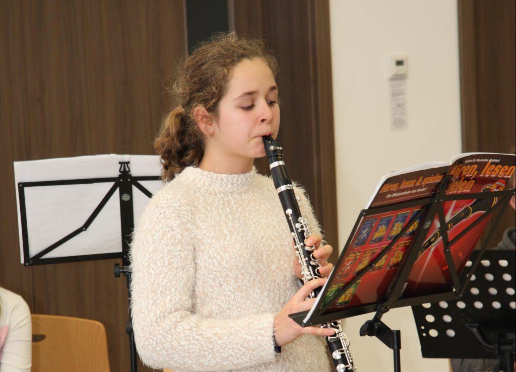 Judith Vierhaus mit der Klarinette